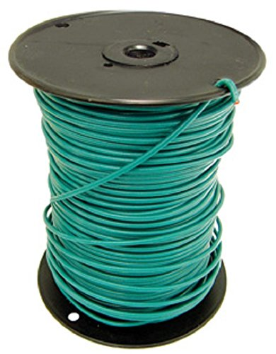 10 Awg THHN-THWN Solid Copper Ground Wire wit Green Nylon Jacket ...