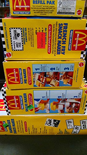 MCDONALDS MAGIC MAKER LOT OF 5 NEW 1993 MATTEL HAMBURGER, SHAKE, PIE FRENCH FRY