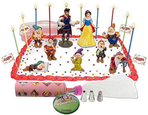 Disney's Snow White Deluxe Cake / Cupcake Topper Decorating Kit (Snow White Apple Bag)