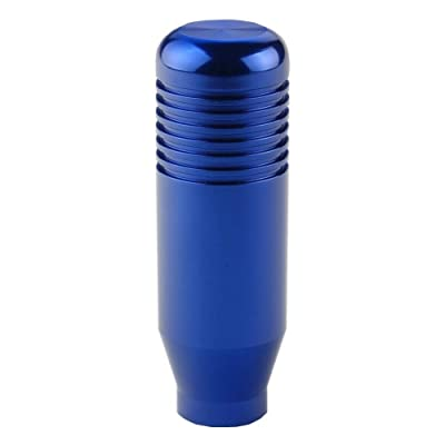 DEWHEL 5 6 Speed Manual Shift Knob M10x1.25 Screw On Aluminum (Blue): Automotive
