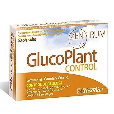 Zentrum GlucoPlant Control de Glucosa Gymnema, Canela y Cromo - 60 Cápsulas: Amazon.es: Salud y cuidado personal