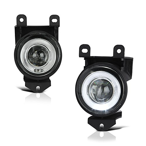 VIPMOTOZ LED Halo Ring Projector Fog Light Driving Lamp Housing Assembly For 2001-2006 GMC Yukon XL Sierra Denali Model, Driver & Passenger Side