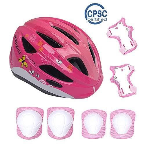 aomigell Kids Helmet Boys Girls Bike Helmet Child Helmet with Outdoor Sports Protective GearSafety Pads Set Knee/Elbow/Wrist Pads for Bicycle, Rollerblades, Scooter, Skateboard, Rollerblades(3-5Years ()