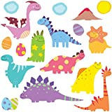 GET STICKING DECOR® Dinosaurio Pegatinas De Pared/ Calcomanías Colección, SuperCuteBabyDinos Dino8, Vinilo Removible Brillante, Multi Color. (Medium)