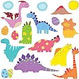 GET STICKING DÉCOR® Mignonne Dinosaures Stickers Muraux/ Autocollants Collection, SuperCuteBabyDinos Dino8, Vinyle Amovible Brillant, Multicolore. (Medium)