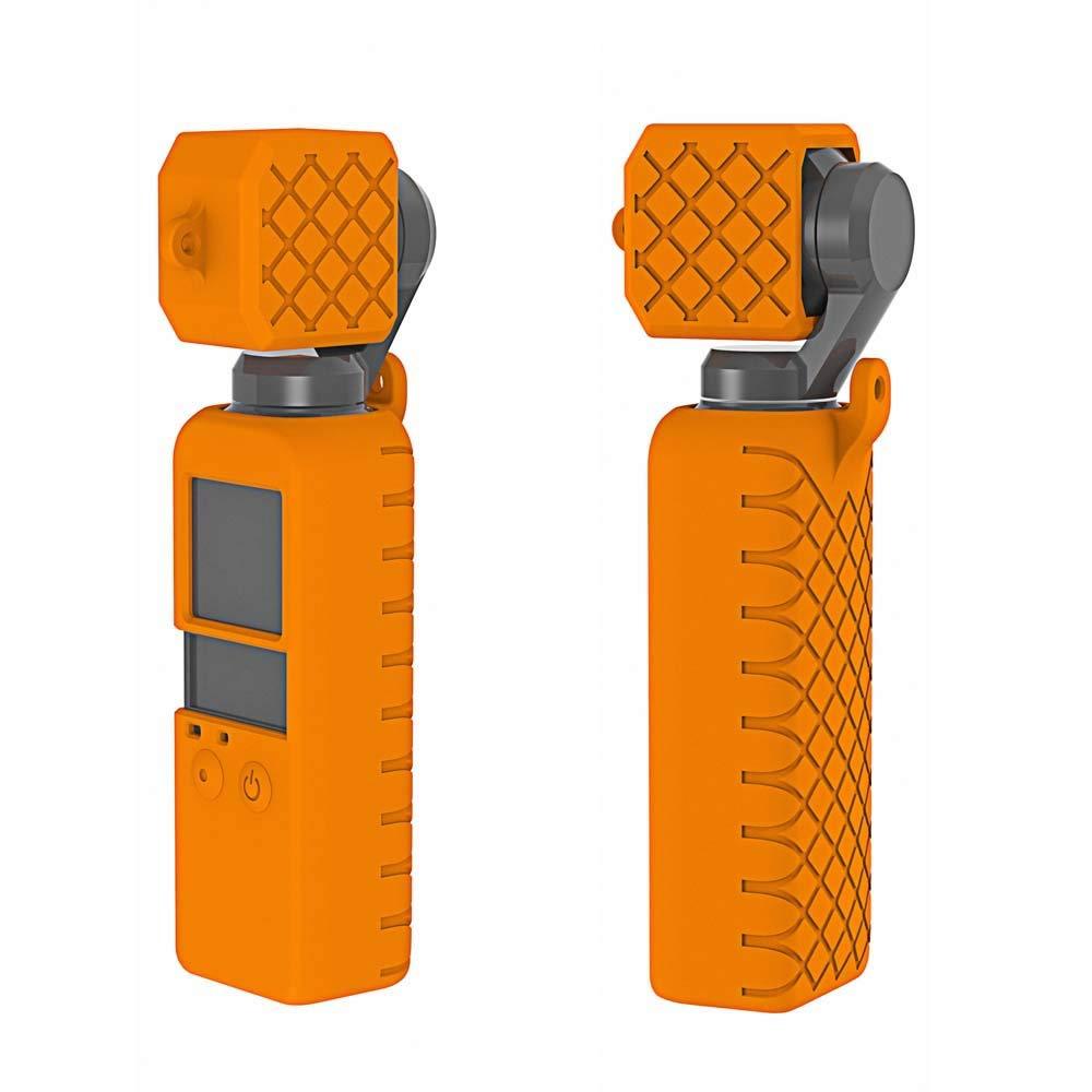 nero Custodia in silicone con cover protettiva in silicone e cinturino salvacorda anti-perso per DJI OSMO Pocket Gimbal