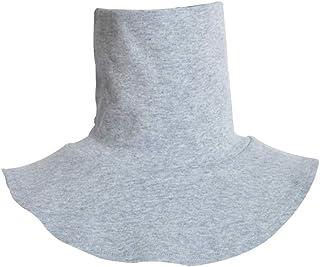 ZOOMY Männer Frauen Stricken Gefälschte Hohe Kragen Rückseite Halstal Muslimischer Kragen Einfarbig Kleidung Zubehör - Grau
