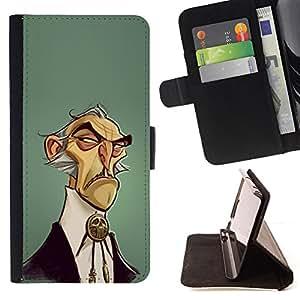 WILD WEST STYLE CARTOON MAN FASHION/ Personalizada del estilo del dise???¡Ào de la PU Caso de encargo del cuero del tir????n del soporte d - Cao - For Samsung Galaxy Note 3 III