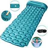Tencoz Sleeping Pad, Inflatable Sleep Mat Ultralight Folding Compact Sleeping Mat with 1 Eye Mask for Camping Travel Outdoor Hiking Backpacking Hammock Tent Beach