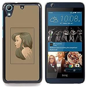 - Brunette Portrait - - Cubierta del caso de impacto con el patr??n Art Designs FOR HTC Desire 626 & 626s Queen Pattern