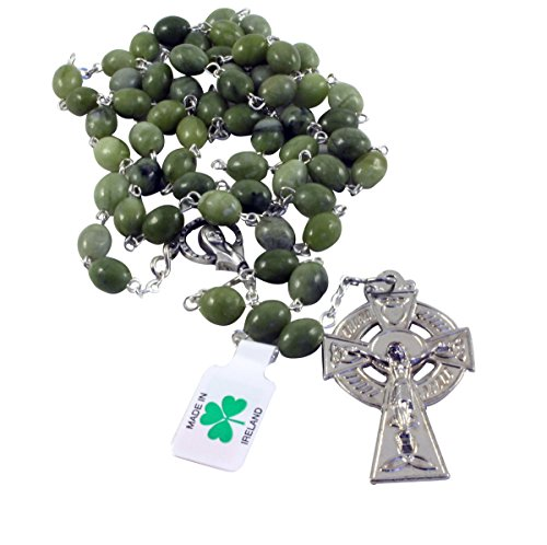 Irish Connemara Marble Rosary Prayer Beads Handcrafted
