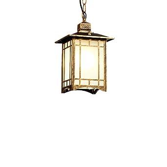 Entzuckend Außen Aufhängung Licht Laterne Quadrat Aluminium Wetterfeste Outdoor Decke  Pendel Lampe Verstellbare Hängende Höhe Für
