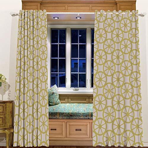 Baseball Lemon Peel (Room Darkening Thermal Blackout Grommet Window Curtain for Living Room,105