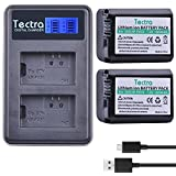 Tectra 2 Pack Sony NP-FW50 NP FW50 Replacement Battery + Rapid LCD Display Dual USB Charger for Sony Alpha a6500, a6300, a6000, a7s, a7, a7s ii, a7s, a5100, a5000, a7r, a7 ii Digital Camera