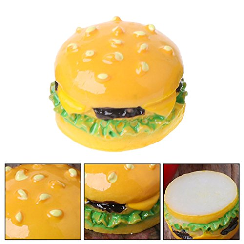 BKID 3PCs Kids Toy Hamburger Toys 1:12 Hamburger DIY Craft Miniature Food Dollhouse Accessory Decoration Baby Plaything