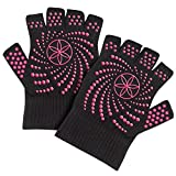 Gaiam Super Grippy Guantes de yoga con puntos rosados