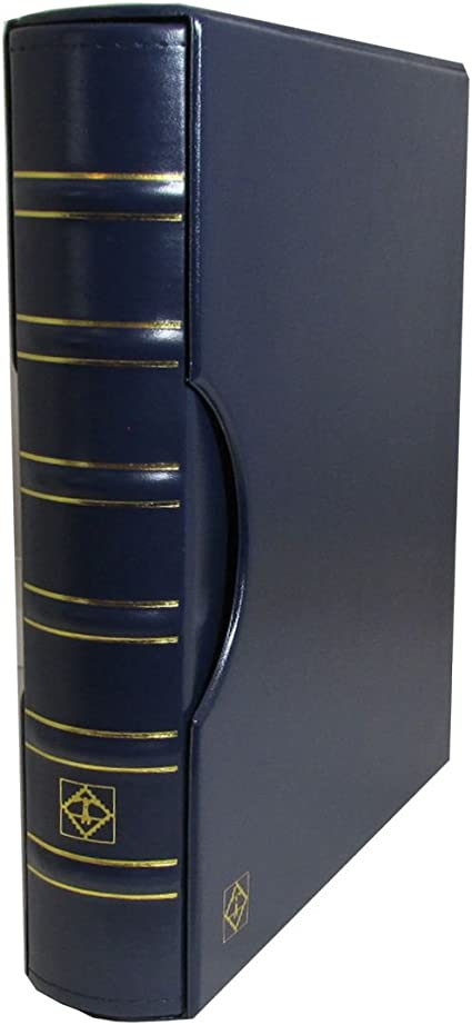 LIGHTHOUSE Graded Currency Album GRANDE Leather 3 Ring Binder BLUE 2C Page