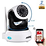 Baby Monitor Home Wifi Wireless Security Camera System 720P HD Pan Tilt (Day/Night Vision,2 Way Audio,SD Card Slot, Alarm)-JUNING IP Camera
