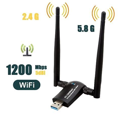 Amazon.com: Techkey - Adaptador inalámbrico USB WiFi, 1200 ...