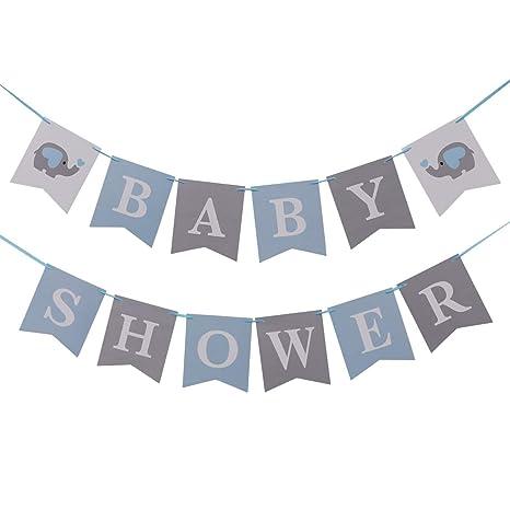 Amosfun Fiesta de cumpleaños Baby Shower Cartas Banner de Papel ...