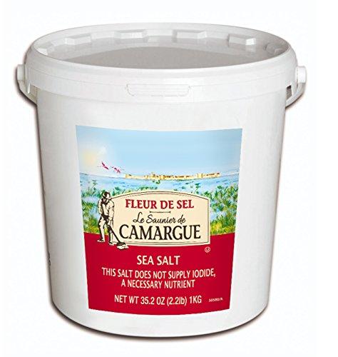 Le Saunier De Camargue Fleur De Sel Sea Salt (Round Box), 35.2 Ounce