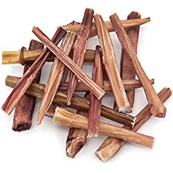 GigaBite 6 Inch Slim Odor-Free Bully Sticks (1-Pound) – USDA & FDA Certified All Natural, Free Range Beef Pizzle Dog Treat – By Best Pet Supplies