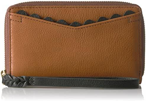 Fossil Caroline Rfid Smartphone Zip Around Wallet Saddle Wallet