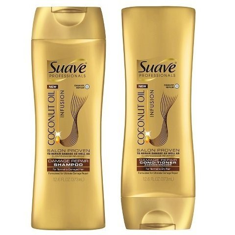 Shampoo Coconut Suave (Suave Coconut Oil Infusion Shampoo and Conditioner (12.6 Ounce))