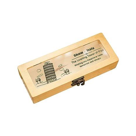 Lvcky - 1 Estuche de Madera para bolígrafos, Caja de Regalo ...
