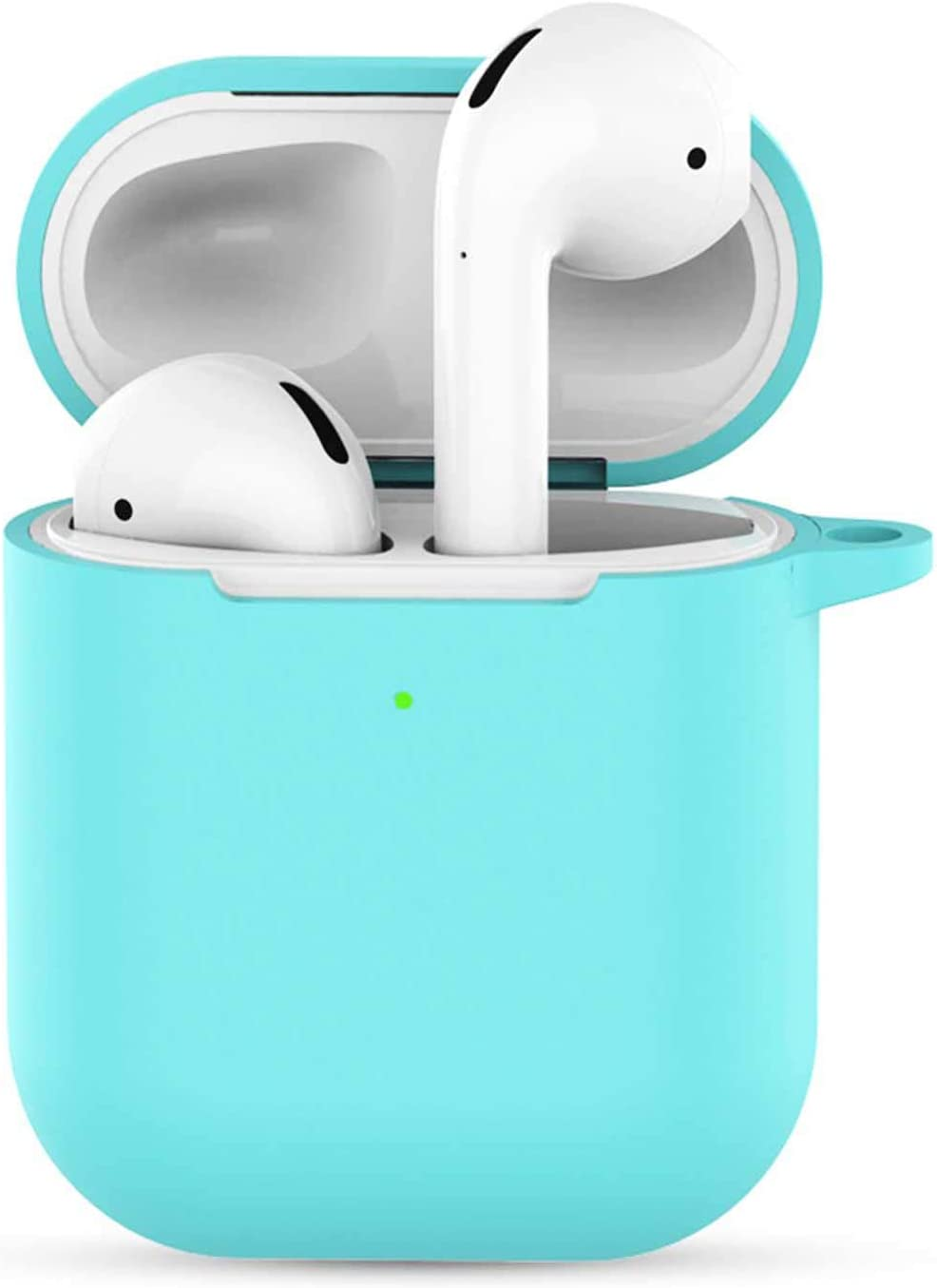 Compatible with Airpods 2 Wireless Charging Case,Airpods 2 Accessories Shockproof Case Cover Portable & Protective Silicone Skin Cover Case Compatible Qi Charging Lightning -Sky Blue
