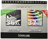 Lexmark 18C2249 36XL/37XL High Yield Black/color Return Prog Print Cart