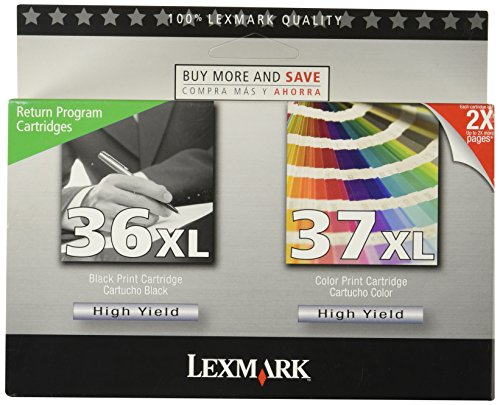 Lexmark 18C2249 36XL/37XL High Yield Black/color Return Prog Print Cart