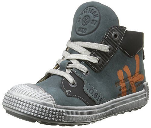 IKKS Richard - Zapatillas Niños Noir (21 Vtu Noir/Orange Dpf/Terrore)