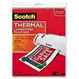 Educational Toys USA Scotch TP385420 Letter Size Thermal Laminating Pouches, 3 mil, 11 1/2 x 9, 20/Pack