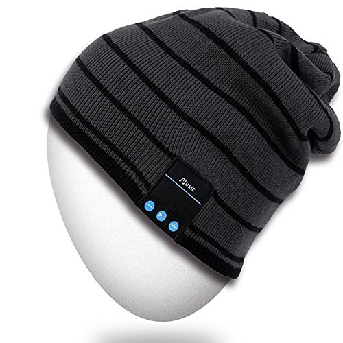 Rotibox Bluetooth Beanie Hat, Winter Outdoor Sport Knit Cap with Wireless Stereo Headphone Headset Earphone Speaker Mic Hands Free Compatible with iPhone Samsung Android Cell Phones, Christmas Gift