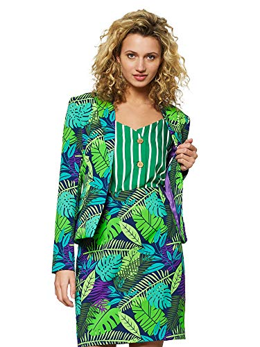 Opposuits Crazy Suits with Funny Prints for Women- Full Set: Jacket and Skirt, Jungle Jane, 16]()