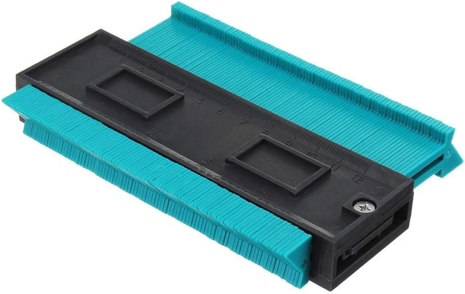 Fan-Ling 4 Inch/120 Mm Plastic Contour Copy Duplicator Circular Frame Profile Gauge Tool,Shape Duplicator Precisely Copy Irregular Shapes Woodworking Shape Tracing Template Measuring Tool