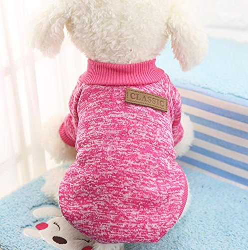 Be Good Pet Cloth Soft and Warm Knitted Sweater Dog Fleece Shirt Cat Apparel in Spring Autumn Winter Shirt for Small and Medium Animals XS/S/M/L