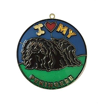 EZ-Travel-Collection-I-Love-My-Pekingese-Christmas-Tree-Ornament
