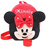 Angelry 2-in-1 Toddler Walking Safety Harness Backpack Baby Cute Cartoon Plush Bag with Anti-lost Leash for 1-3 Years Old Kids (Minnie)