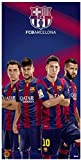 FCB Barcelona Soccer Team Beach Towel, Four Players