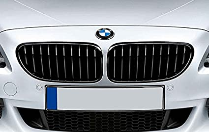 a245c306fb48 Image Unavailable. Image not available for. Color  Matte Black Kidney Euro  Sport Front Hood Grill For BMW 6 Series ...