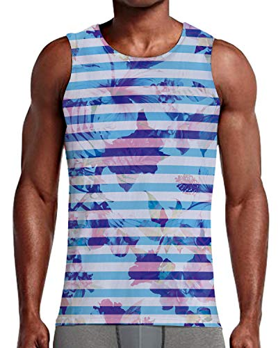 (NEWISTAR Mens 3D All Over Print Tank Tops Sleeveless Shirt for Gym Sports S-XXL)