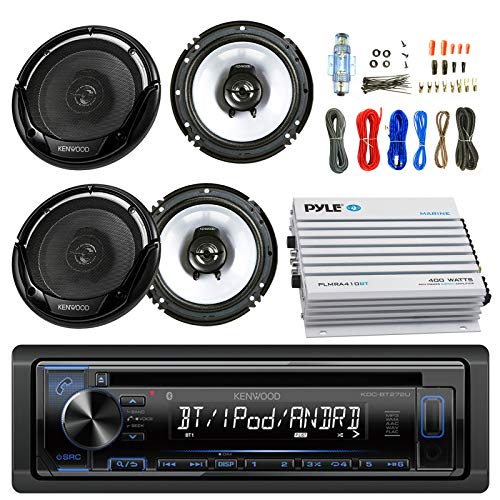 Combo Amplifier Watt 30 (Kenwood Car CD Player Receiver AUX Radio - Bundle Combo with 2x Kenwood KFC1665S 6.5