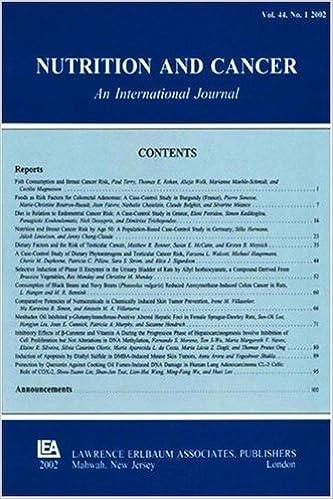 Картинки по запросу Nutrition and Cancer journal