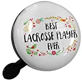 Small Bike Bell Happy Floral Border Lacrosse Player - NEONBLOND