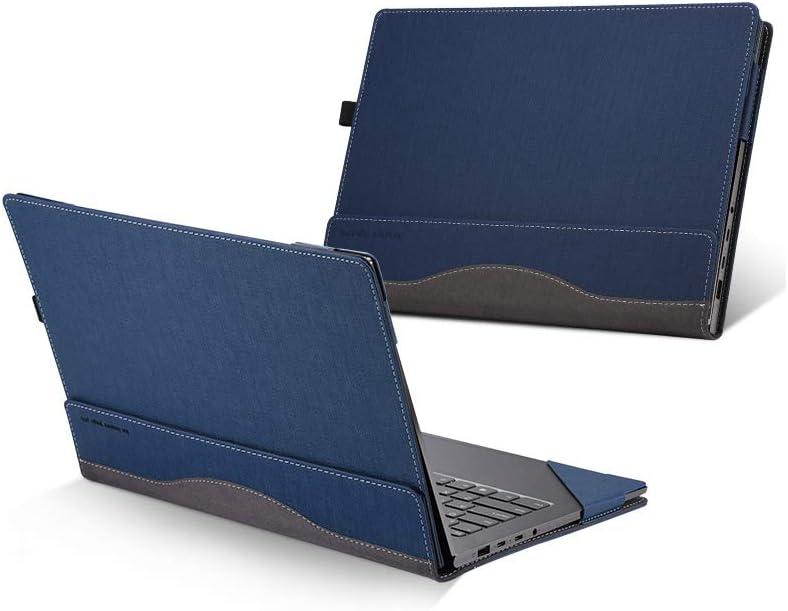 For Lenovo Yoga 720/Yoga 730 Case, PU Leather Folio Stand Protective Laptop Cover For Lenovo Yoga 720-13/Yoga 730-13 13.3 Inch,Blue