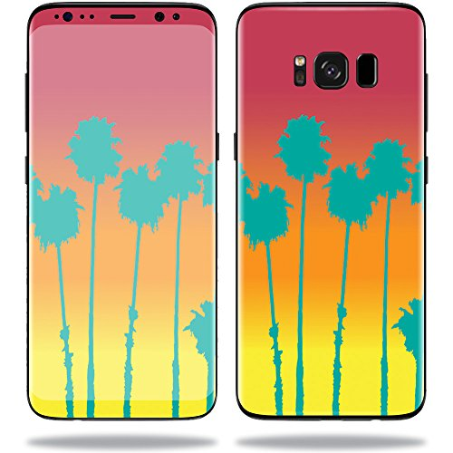 MightySkins Skin for Samsung S8 - Sherbet Palms | Protective, Durable, and Unique Vinyl Decal wrap Cover | Easy to Apply, Remove, and Change Styles | Made in The USA