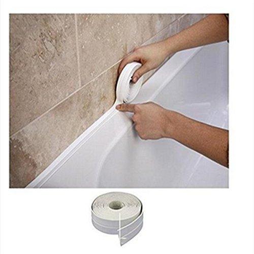 Romote Pared del bañ o de Cocina WC Resistente al Agua y el Moho de Sellado de Cinta de PVC de 38 mm x 3, 2 m