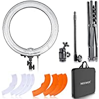 Neewer Camera Photo Studio Dimmable 18 inches/48 centimeters 75W(600W Equivalent) 5500K Ring Fluorescent Continuous Light and Stand Kit for Photography YouTube Vine Self-Portrait Video Shooting